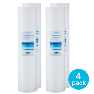 """4 Packs Big Blue Whole House PP Sediment Replacement Water Filter - 4.5"""" x 20"""""""