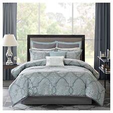 Octavia Jacquard Comforter Set - 12pc King Size Blue