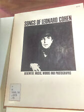 SONGS OF LEONARD COHEN  Music Editor: Harvey Vinson AMSCO 1969