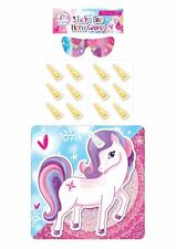 Classic Pin The Donkey Childrens Party Game Unicorn Princess Pirate Birthday Fun