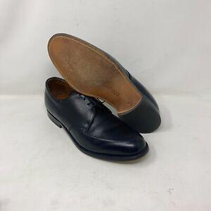 ET Wright Hawthorne Black Leather Apron Toe Dress Casual Shoes Men's Sz 10.5 D