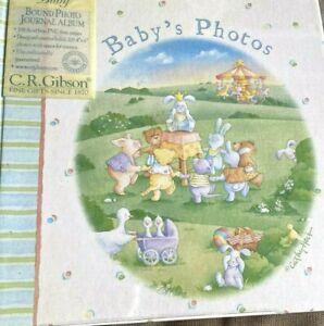 C.R. Gibson Little Carousel Baby Memories Photo Keepsake Album Book ~ Cathy Heck