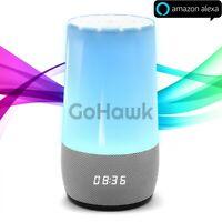 GoHawk Alexa WiFi Bluetooth Smart Loud Speaker Home Stereo System LED Desk Light