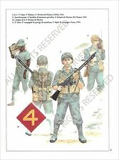 PLANCHE UNIFORMS PRINT WWII US ARMY UNITED STATES MARINE CORPS Battle of Peleliu