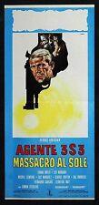 CINEMA-locandina AGENTE 3S3 MASSACRO AL SOLE ardisson, wolff, marandi, STERLING