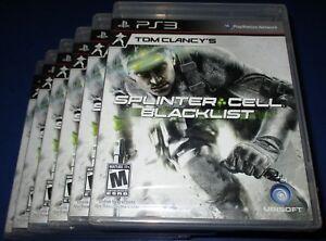 Lot of 6 Tom Clancy's Splinter Cell: Blacklist -Upper Echelon Edition PS3 *New!