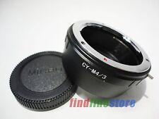 Contax Yashica CY C/Y Lens to Micro 4/3 M4/3 Adapter E-P2 E-PM1 E-PL3 GF3 + CAP