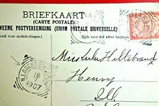 NETHERLAND INDIES : Very Old Pic Postcard, PONTIANAK to USA (1907) NIA SINGAPORE