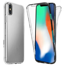 360 Degree Full Body Shockproof Front and Back Clear TPU Case Cover For iPhone X