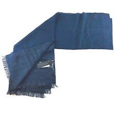 BLM Wool Knit Striped Fringe Winter Scarf Mens 42x80 NWT