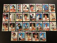 1980 Topps CLEVELAND INDIANS Complete Set of 29 TOBY HARRAH Hargrove BOBBY BONDS