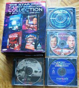 Star Trek Next Generation Collection (PC CD-ROM) w/ Birth Federation BIG BOX VGC