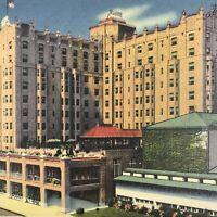 New Jersey Atlantic City Postcard Vintage Linen Seaside Hotel Posted 1940
