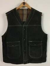 Mens Suede Diesel Gilet / Medium / Reversible / Trucker / Worker
