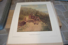 ~THE COACHING PARTY~EDWARD LAMSON HENRY~COLOR PRINT~