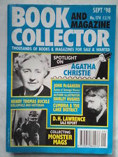 BOOK AND MAGAZINE COLLECTOR.AGATHA CHRISTIE.NO 174,SEP 1998.D H LAWRENCE.MONSTER