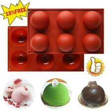 6 Hole Semi-Sphere 2.8in Round Silicone Mold Hot Chocolate Bombs Cake Baking_HOT