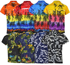 Collared Loose Fit Casual Shirts & Tops for Men Hawaiian