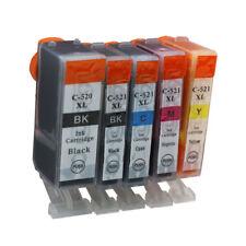 5x Ink Cartridges PGI 520 CLI 521 Compatible For Canon PIXMA MP550 MP560 MP620
