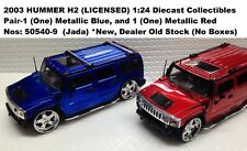 2003 HUMMER H2 PAIR Jada Diecast Metal Car 1:24 Collectible--US Supplier