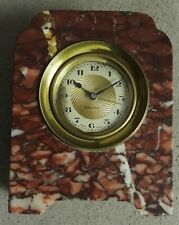 Antique Zenith Swiss Made alarm clock with marble case - working