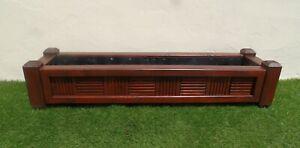 Deluxe Wooden Garden Timber Planter Pots - Trough Patio Window Box - Rosewood