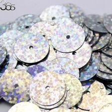 800pcs Center Hole Shinning Silver Flat Round Handmade DIY Clothing Sequins 13mm