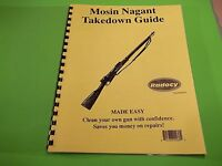 TAKEDOWN MANUAL GUIDE for WWII ERA RUSSIAN MOSIN NAGANT BOLT RIFLE good material