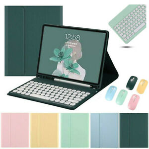 """Bluetooth Keyboard Mouse With Stand Case Cover For iPad 5/6/7/8th Pro 11"""" Air 4"""