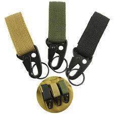 Military Nylon Key Hook Webbing Molle Buckle Outdoor Hanging Belt Carabiner Clip