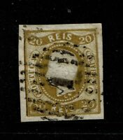 Portugal SC# 19, Used, center embossing tear - S6195