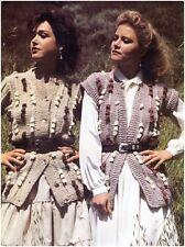 Ladies' Chunky Multicoloured Bobble Detail Jacket and Waistcoat Knitting Pattern