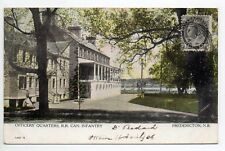 CANADA carte postale ancienne FREDERICTON N.B. Officer's quarters Can. INFANTRY