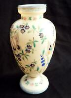 Vintage glass vase ornately decorated with butterflies circa 1970s