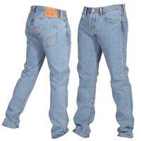 Levis 501 Original Fit Mens Jeans Straight Leg Button Fly 100% Cotton Light Wash