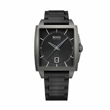 Hugo Boss Men's Watch 1513225 Modern Square Grey Stainless Steel Case - RRP 275