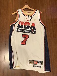 Larry Bird Nike 1992 Team USA Legends White/Gold Basketball Jersey XL NWT