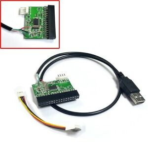 """USB Cable To 3.5"""" 34pin Floppy Interface Driver Adapter Converter PCB Board"""