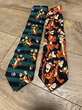 Lot of 2 Disney Winnie the Pooh Tigger ties 100% silk