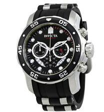 Invicta Men's Watch Pro Diver Scuba Chronograph Black and Silver Tone Strap 6977