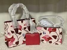 Authentic Kate Spade Small Satchel, Crossbody & Small Zip Bi-fold Wallet SET.