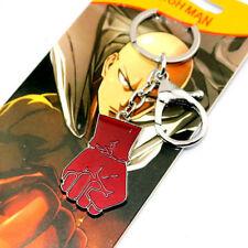 Anime One Punch Man Saitama Oppai Pendant Keychain Keyring Cosplay