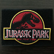 Jurassic Park Embroidery Logo USA Military Tactical Morale Badge Sticker Patch