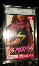 Ms Marvel #1 CBCS 8.5 vf+ 2014 1st First kamala khan appearance Not CGC movie