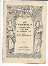 MARCETTEAU HODIE CHRISTUS NATUS EST MOTEL POUR NOEL 1904 ARRAS