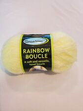 Sensations rainbow boucle yarn 11 oz cream new. 1 skein.