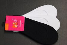 3 PAIR 9-11 Peds LOW ANKLE CASUAL SOCKS THIN FIT SHOE 5 TO 9 White Black