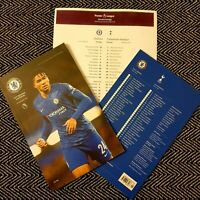 Chelsea v Tottenham Hotspur Programme with official teamsheet 22/2/20!!!