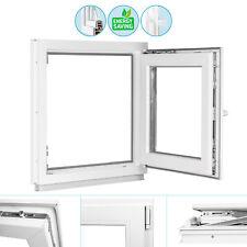 Kellerfenster Fenster Garagenfenster 2 & 3 Fach Verglast Dreh Kipp weiß Premium
