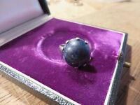 Bezaubernder 835 Ring Silber Lapislazuli Defekt Jugendstil Art Deco Top